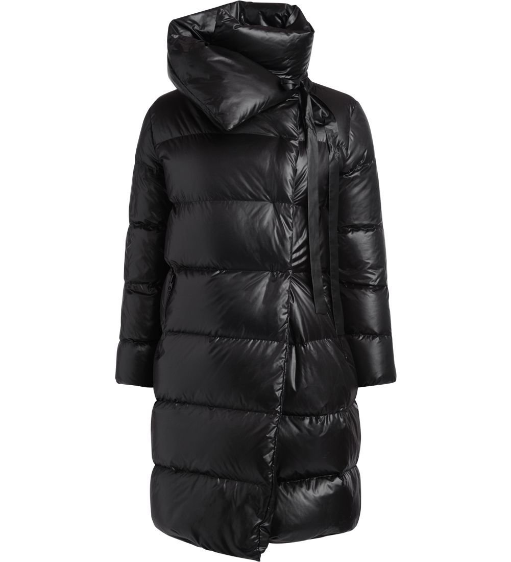 BACON CLOTHING Bacon Big Puffa Black Long Down Jacket in Nero