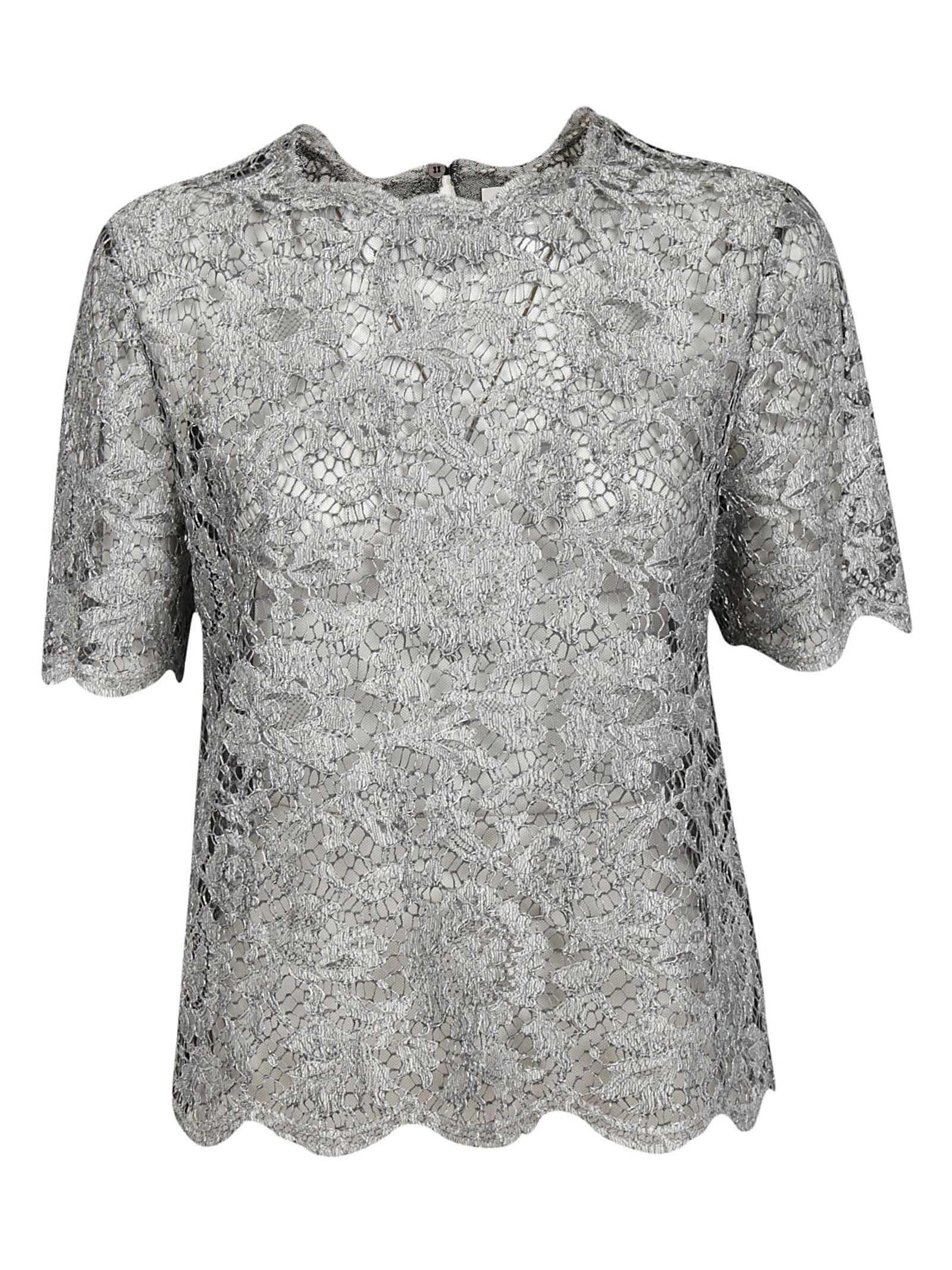 Valentino Scalloped Lace T-shirt ...