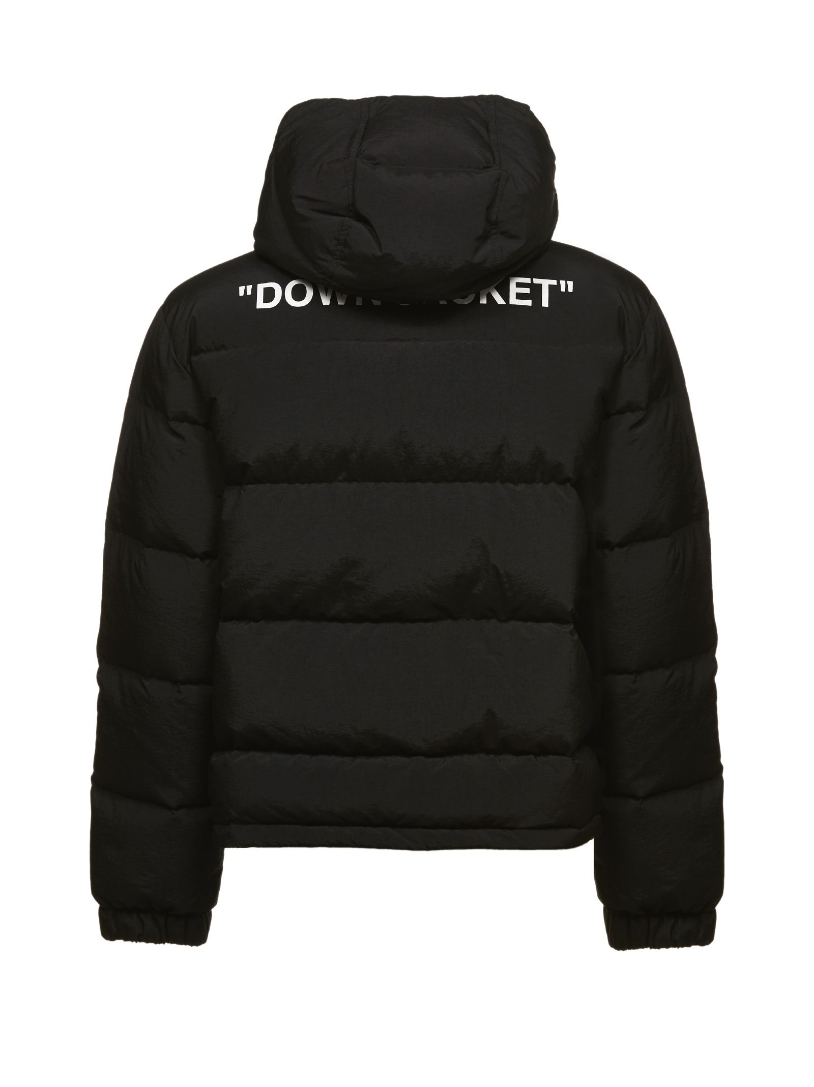 OFF-WHITE REAR PRINT PADDED JACKET