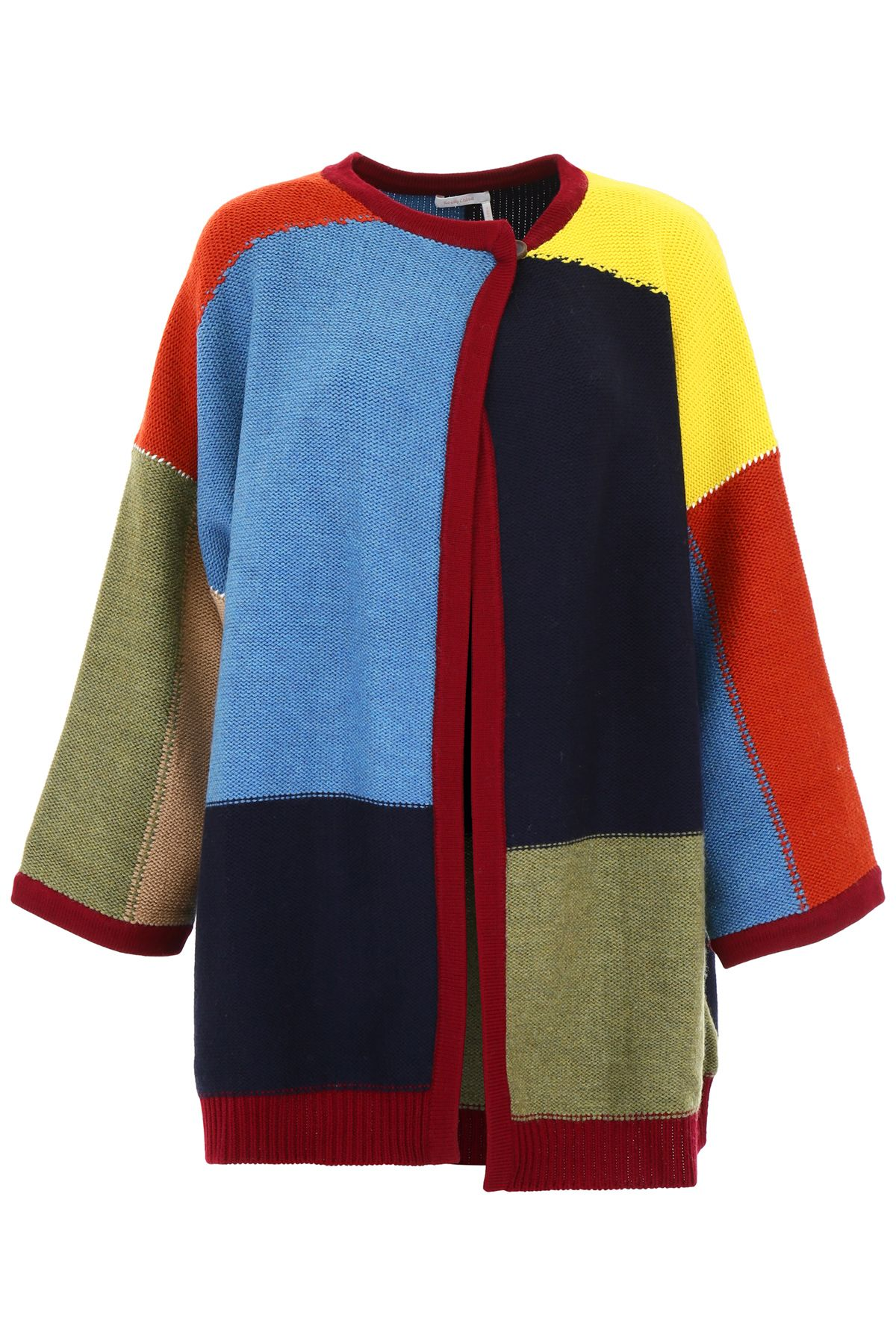 See By ChloÉ Color Block Cardigan In Multicolor Brown  d57db9fe6