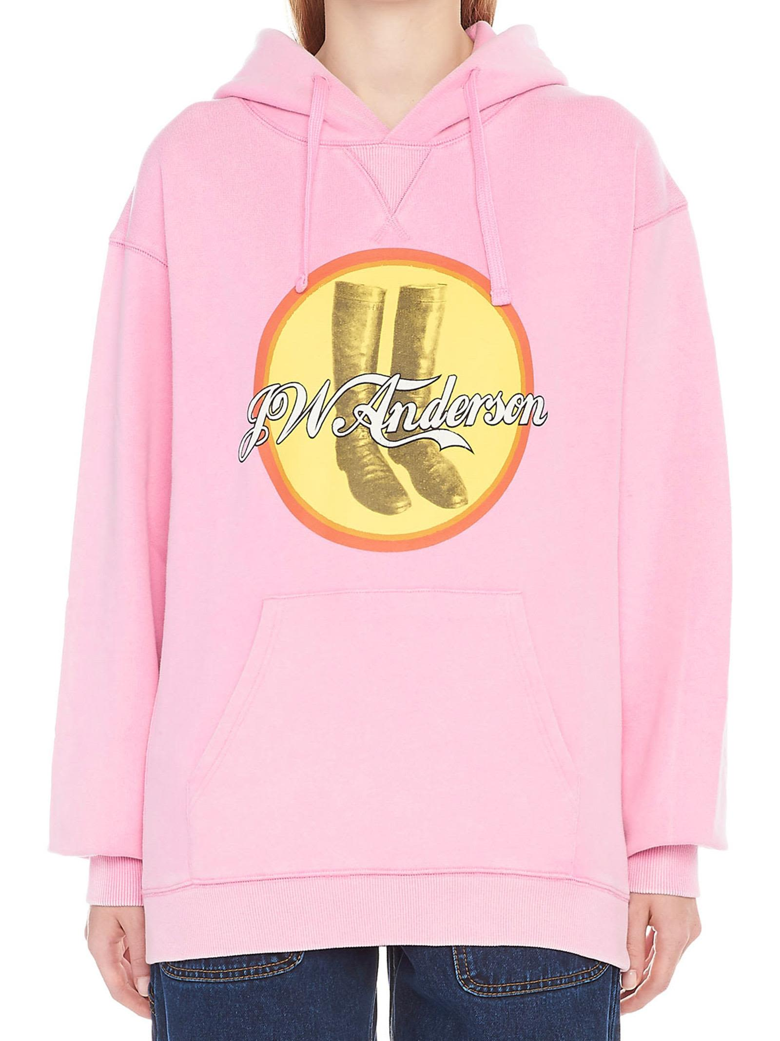 J.W. Anderson 'Cola Boots' Hoodie in Pink