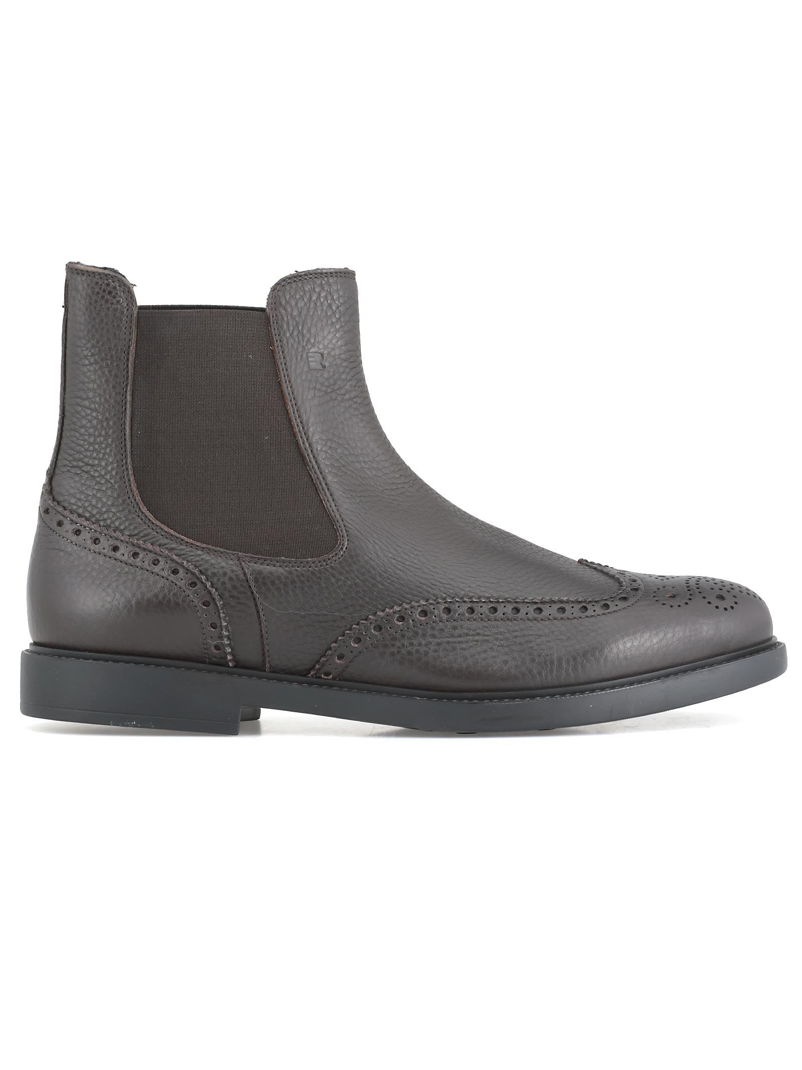 FRATELLI ROSSETTI Leather Chelsea Boot in Ebano
