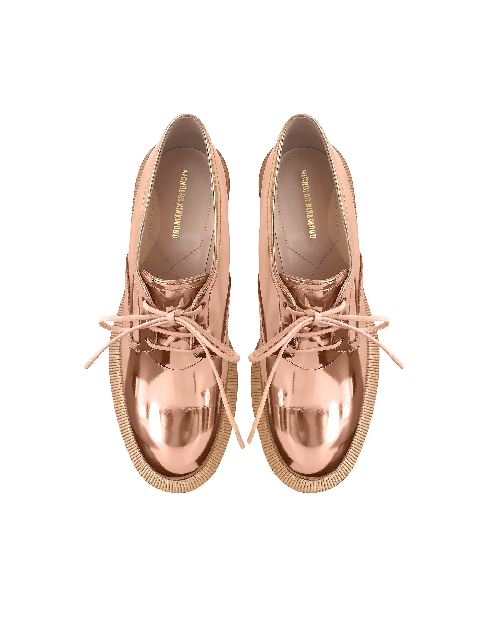 Nicholas Cuir Éco-brevet Cuivre Kirkwood Chaussures Derby Perle Casati jyUVbAnH0