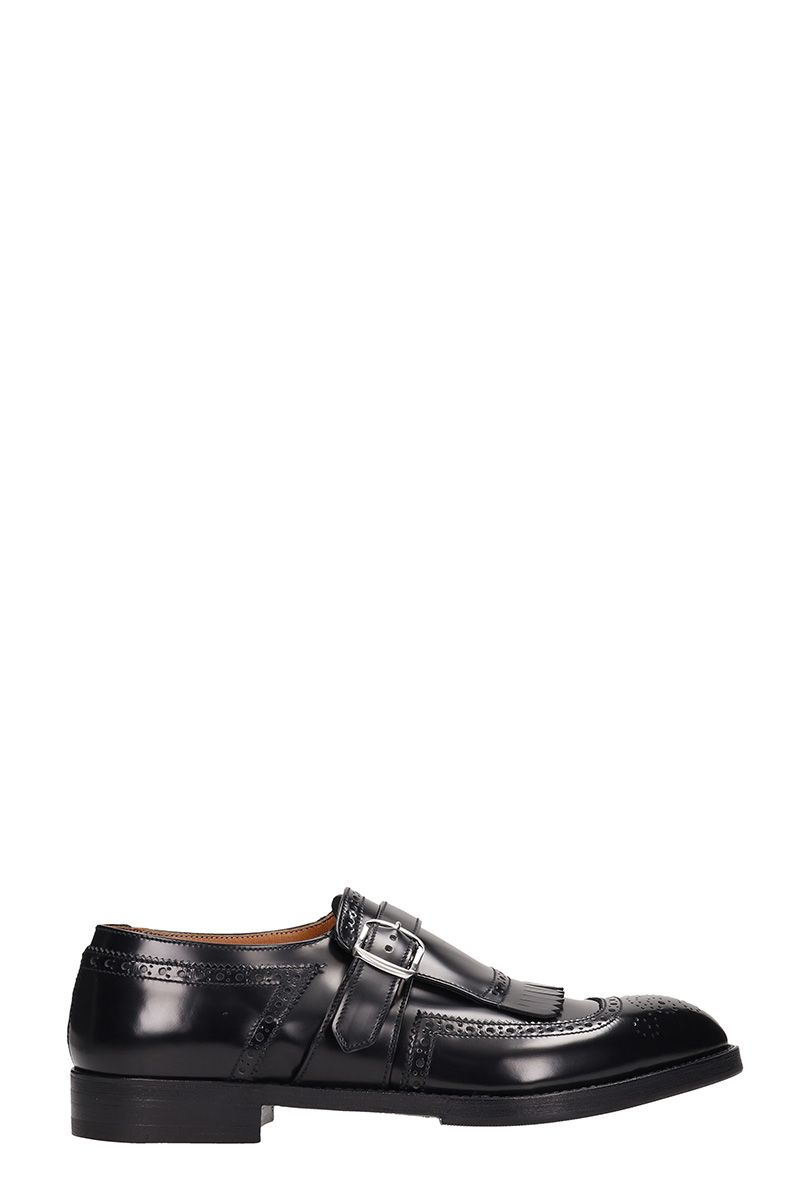 PREMIATA Black Shiny Leather Loafers