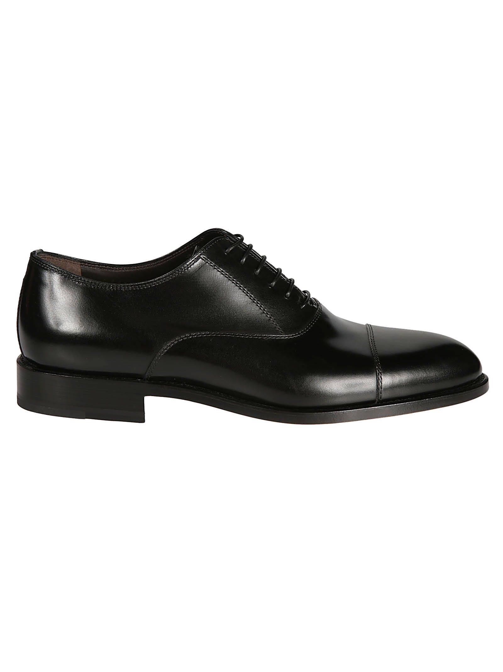 MORESCHI Dublin Black Calfskin Oxford Shoes