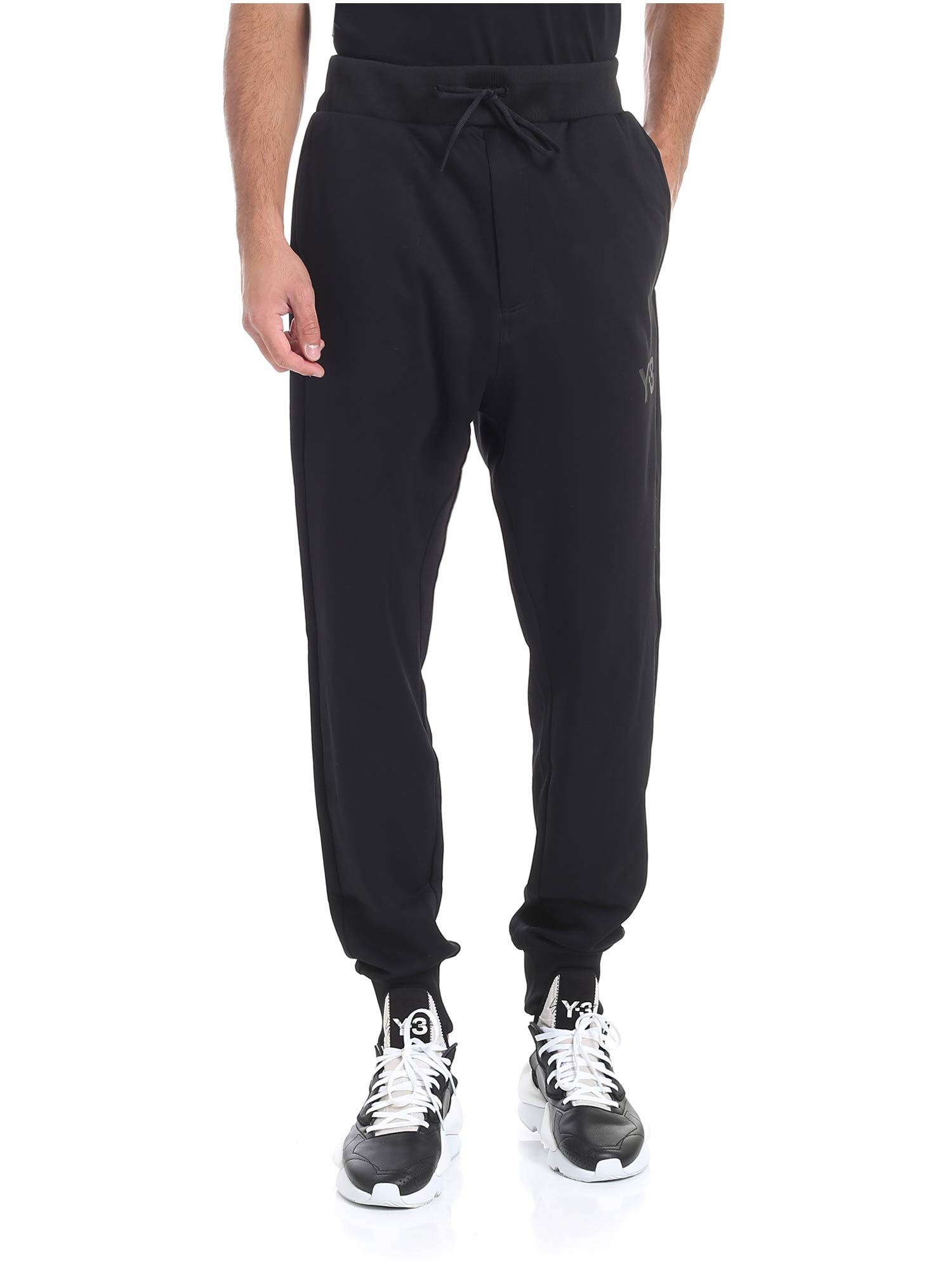 19f75c87ce517 Y-3 Y3 Tapered Track Pants In Nero