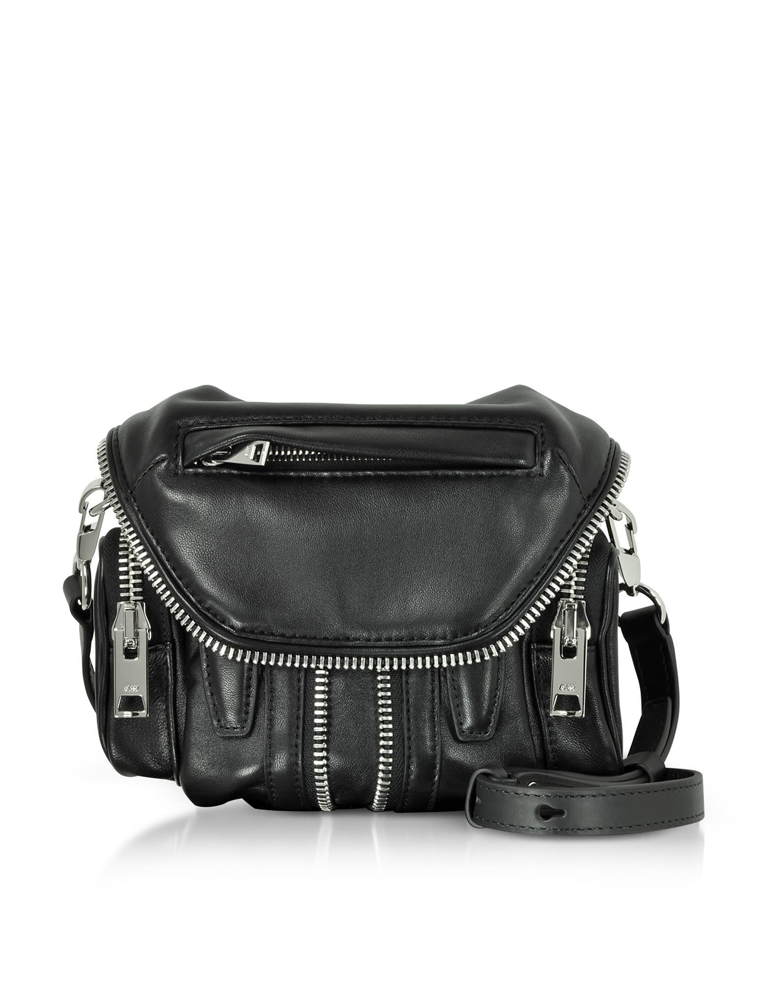424308af13d90 Black Nappa Leather Mini Backpack Purse Shoulder Bag- Fenix Toulouse ...
