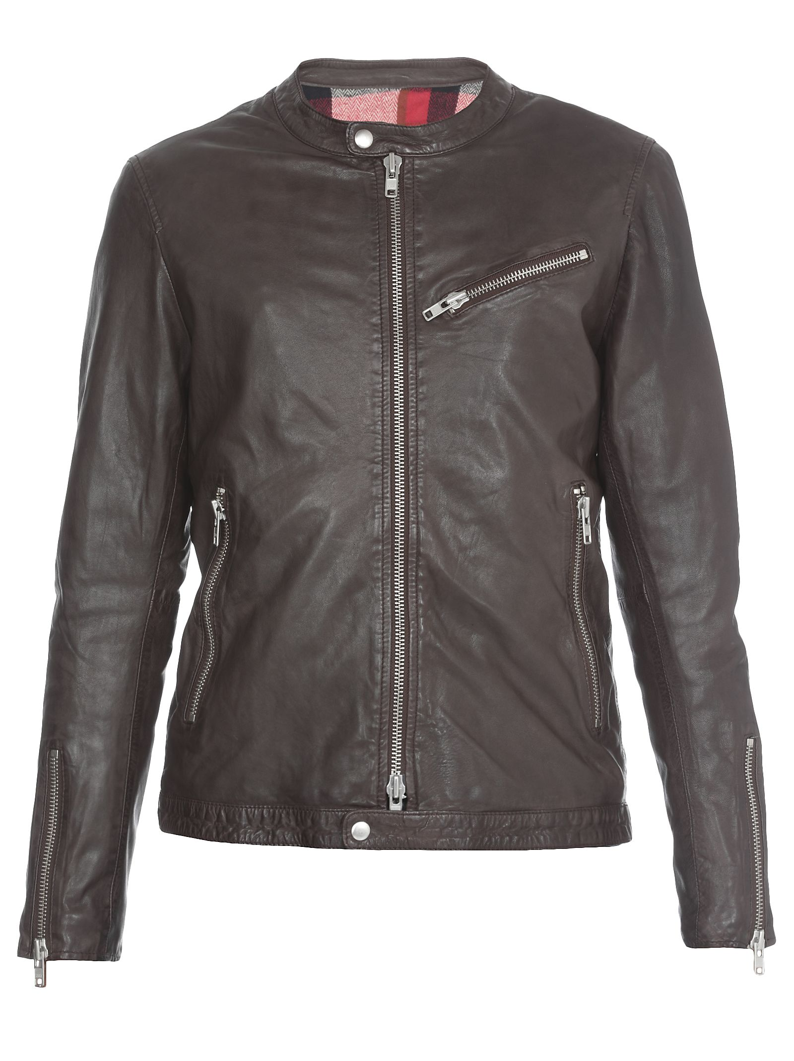 BULLY Leather Jacket in Brown