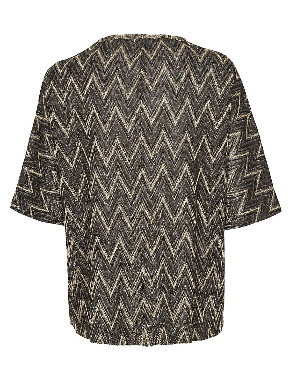 Italist Best Price In The Market For M Missoni Zigzag Blouse Zig Zag Patterned Nero Oro