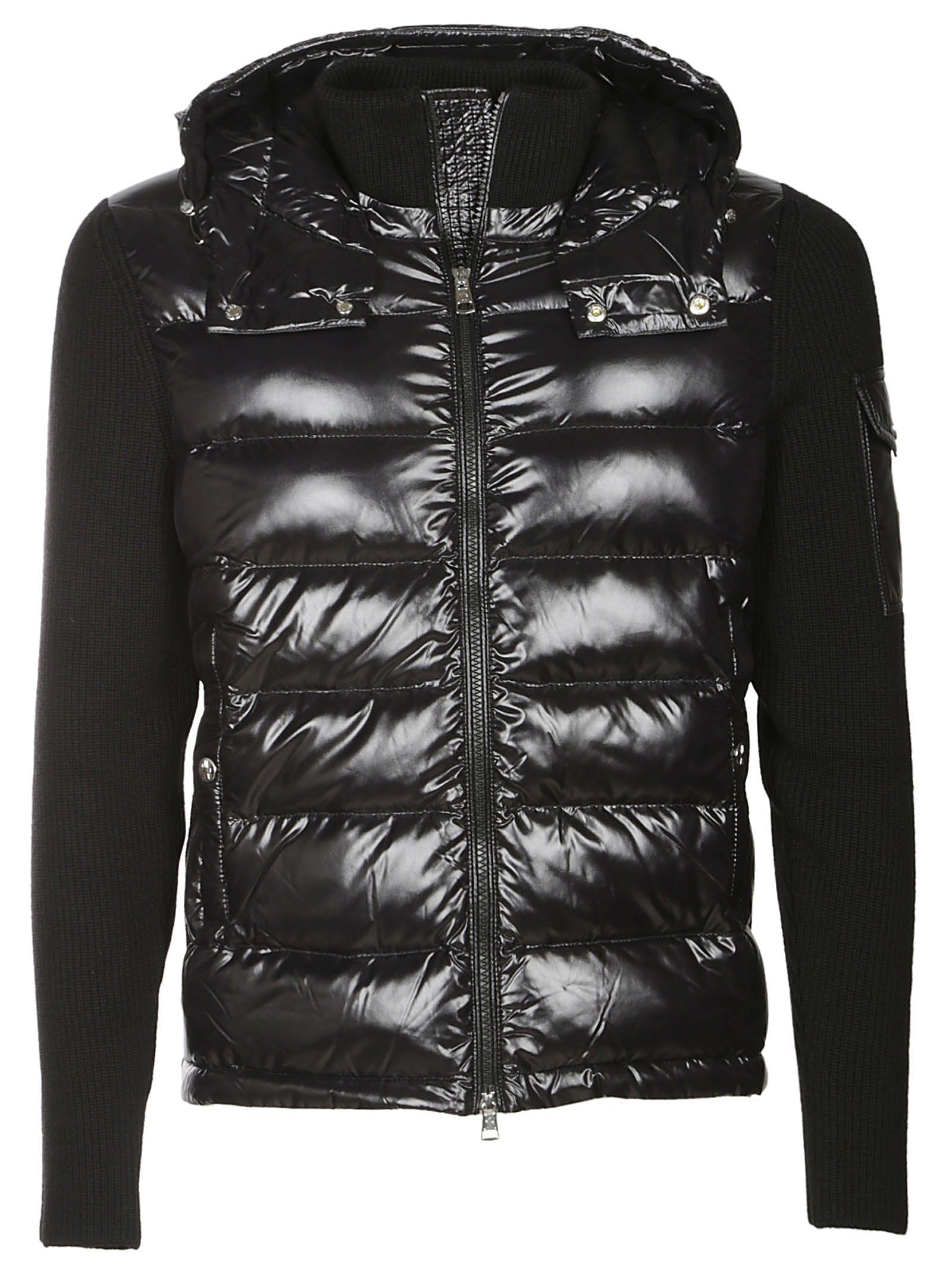 88d2759d673 Moncler Zipped Padded Jacket - Black ...