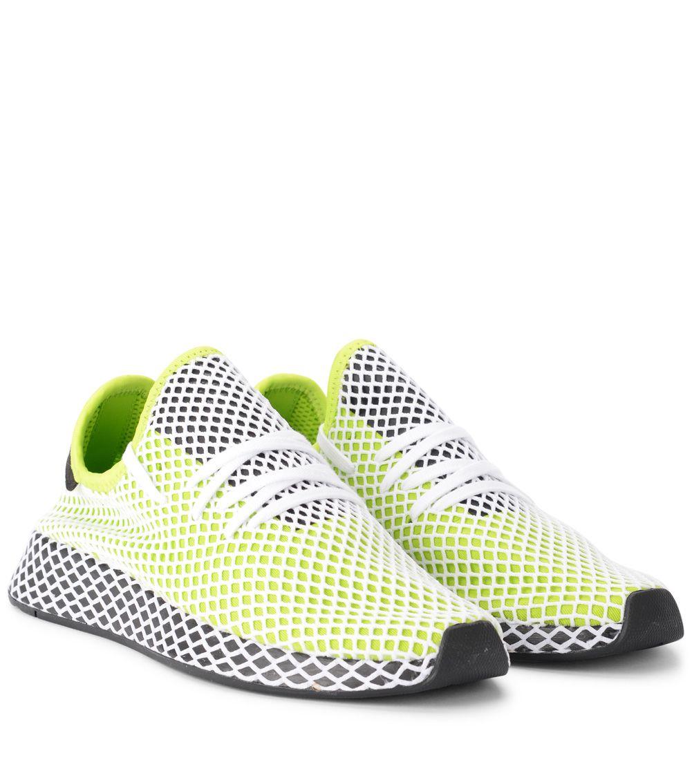 low priced 15eb8 8781d ... Adidas Originals Deerupt Green And White Mesh Sneaker - VERDE