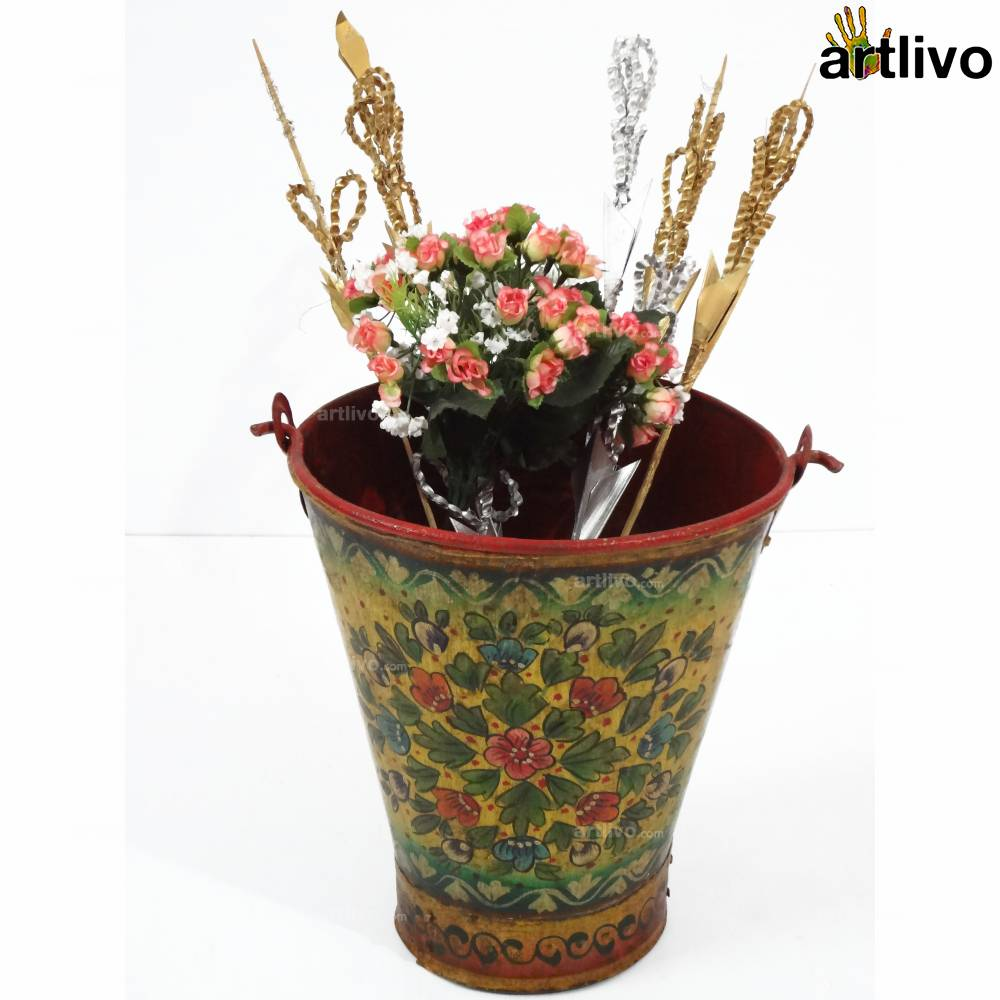 POPART Yellow Flowers Iron Bucket