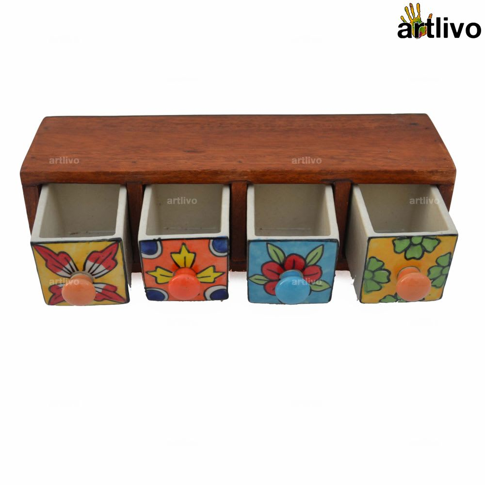 POPART Ceramic 4 Drawer Long Box - BO088