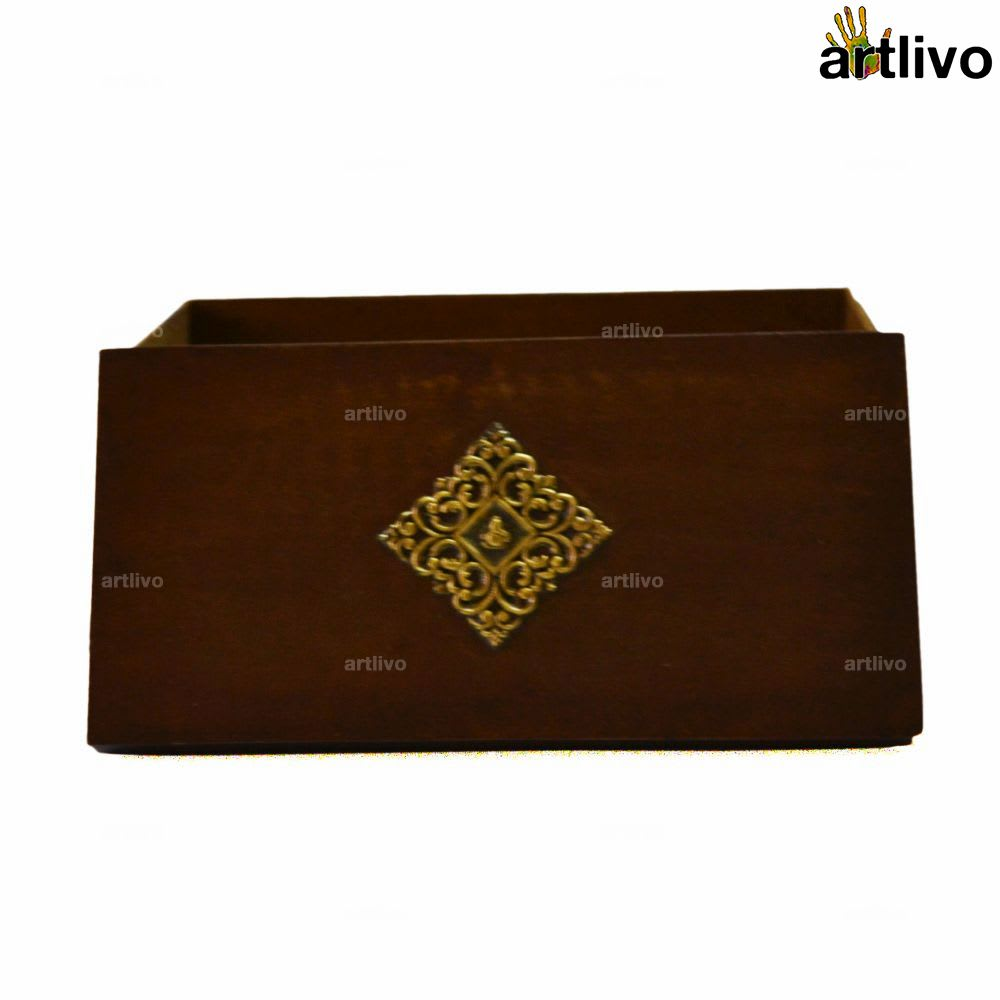 Wooden Ganesha Laddu Box with Partition
