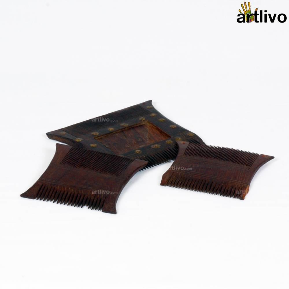 VINTAGE Wooden Combs Set