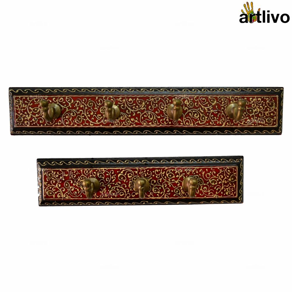 Bold Red Wall Hooks, Set of 2 (remains of HO017)