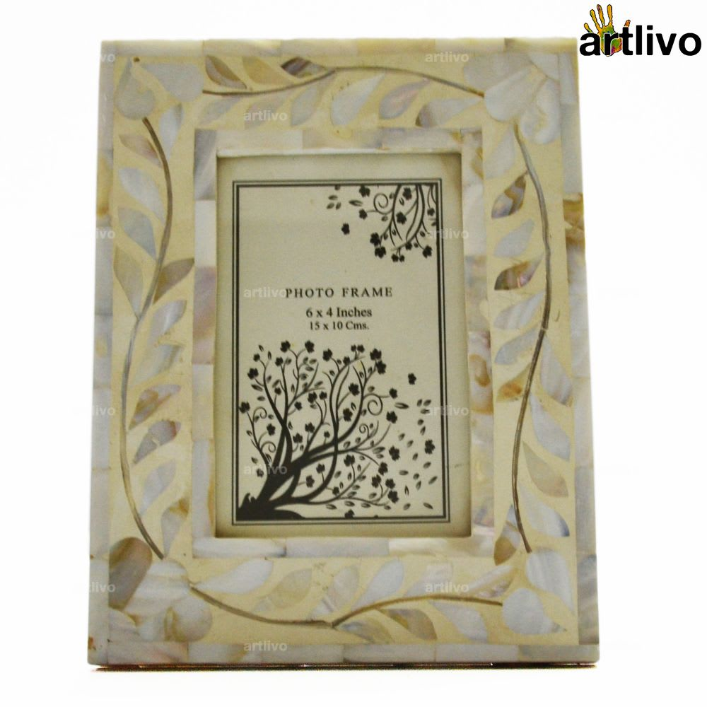 Mother of Pearls White Photo Frame