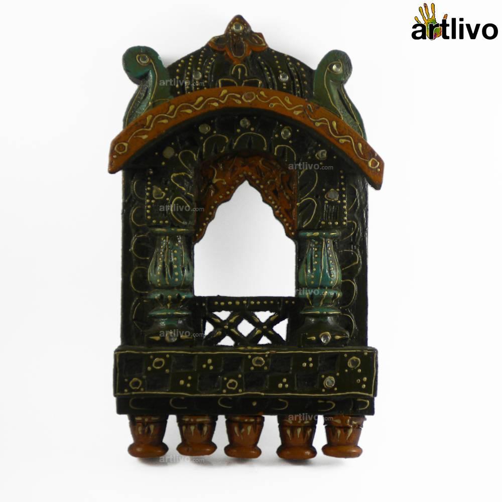 Small Wooden Jharokha