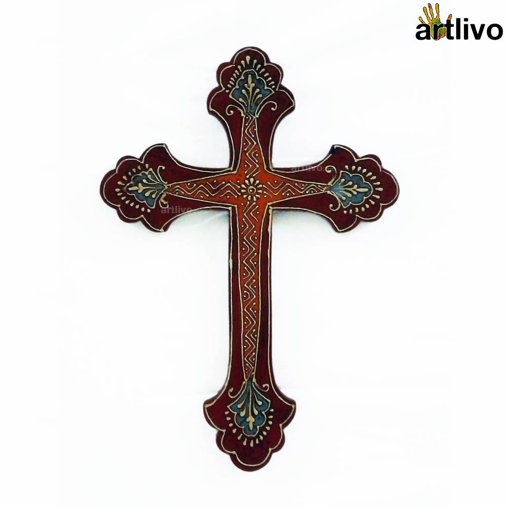 BOLD RED Wall Hung Cross - WH011