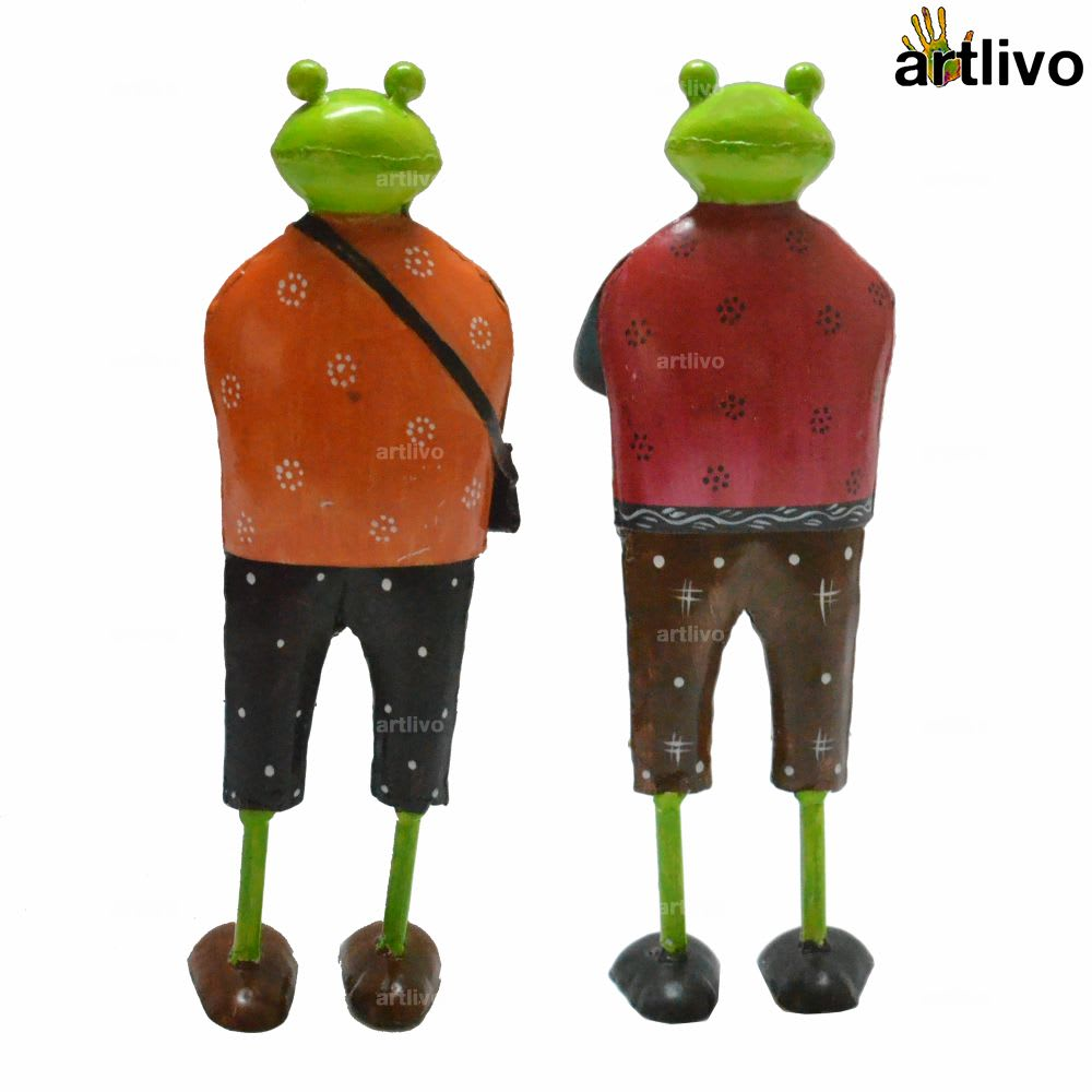 POPART Vacation Frogs showpiece - Set of 2 - ST078