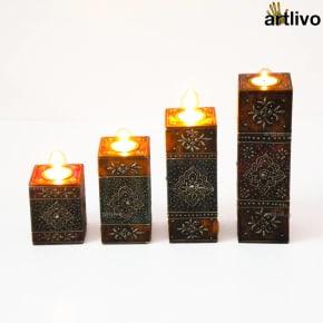 EMBOSSED Steps Candles Set
