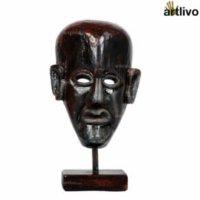 VINTAGE Wooden Tribal Mask on Stand - MA002