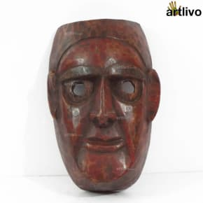 VINTAGE Tribal Story Mask - Hero - MA033