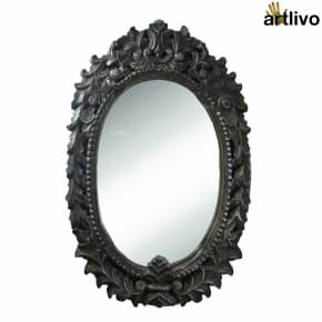 "24"" Floral Royal Vintage Mirror"