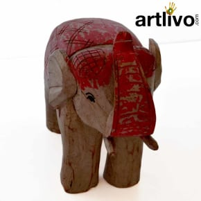 Wooden large elephant statue
