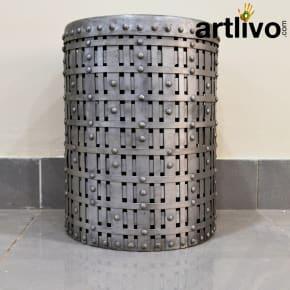 Iron Stool: Silver