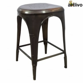 POPART French Bar Stool - Grey