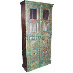 Vintage Indian Beautiful illustrious Solid Wooden Teak Almirah