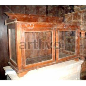 Antique Indian Brown illustrious Solid Wooden Teak Sideboard