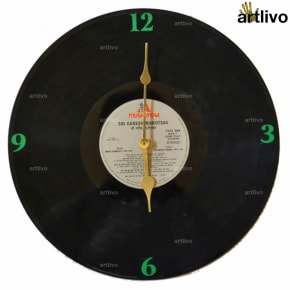 Record Wall Clock - Green