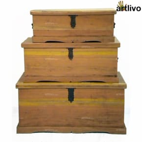 Eucalyptus Wood Chest - Big
