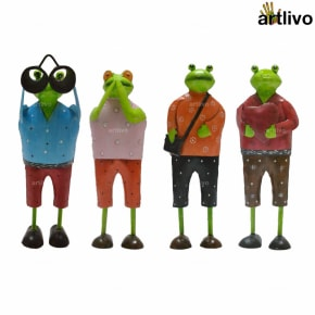 POPART Vacation Frogs showpiece - Set of 4