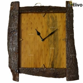 ECOLOG Raw Wood Wall Clock