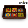 Wooden Tile Tray