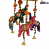 """POPART Elephant Jhoomar with 6"""" Basket - Red"""