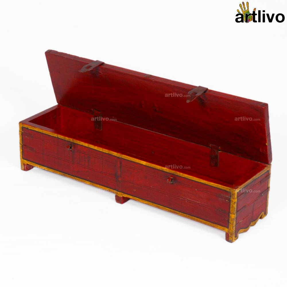 VINTAGE Long Red Box