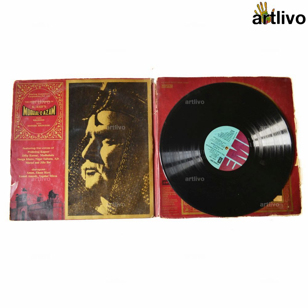 VINTAGE Gramophone Record - Mughal-e-Azam (With Cover)