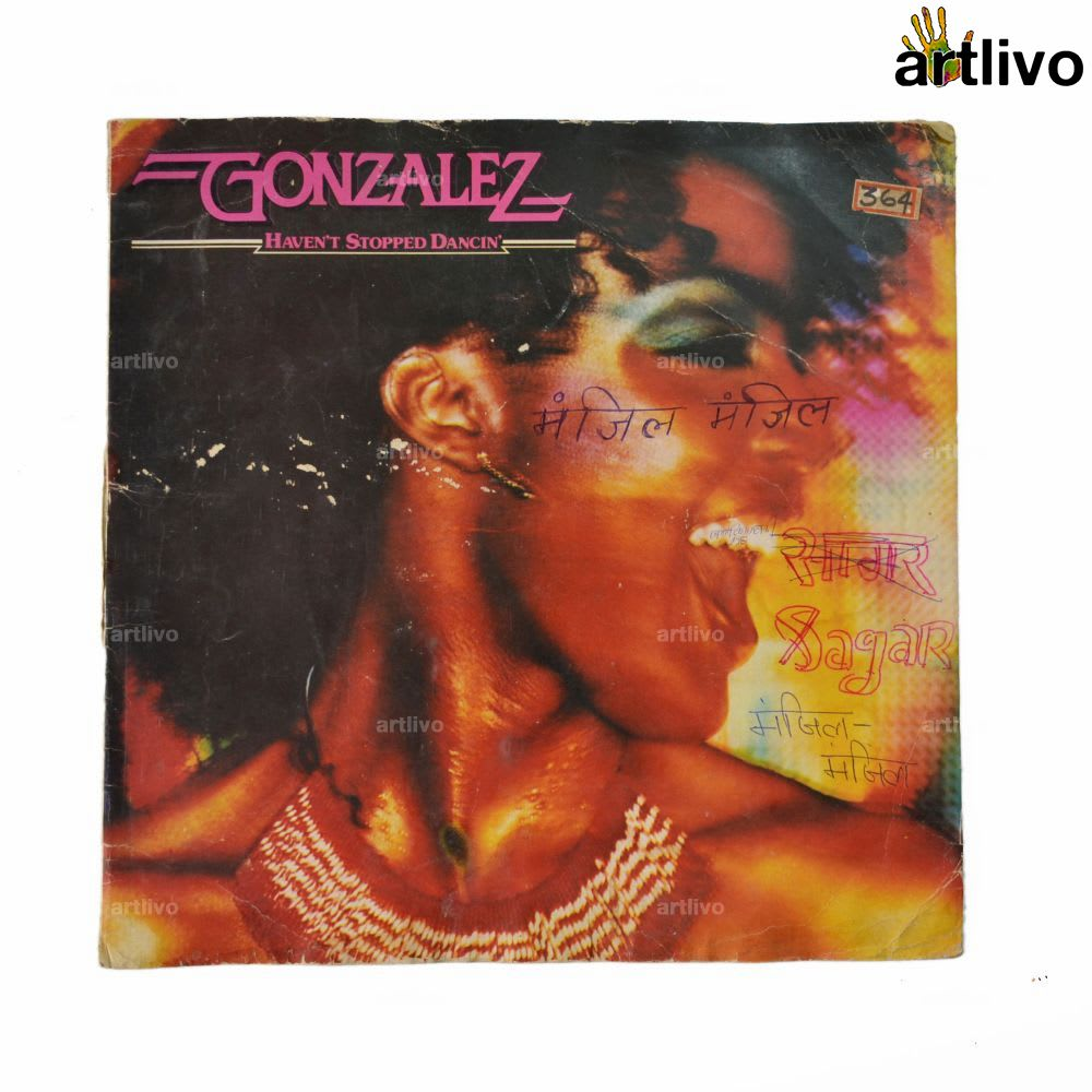 VINTAGE Gramophone Record - Manzil Manzil (Without Cover)