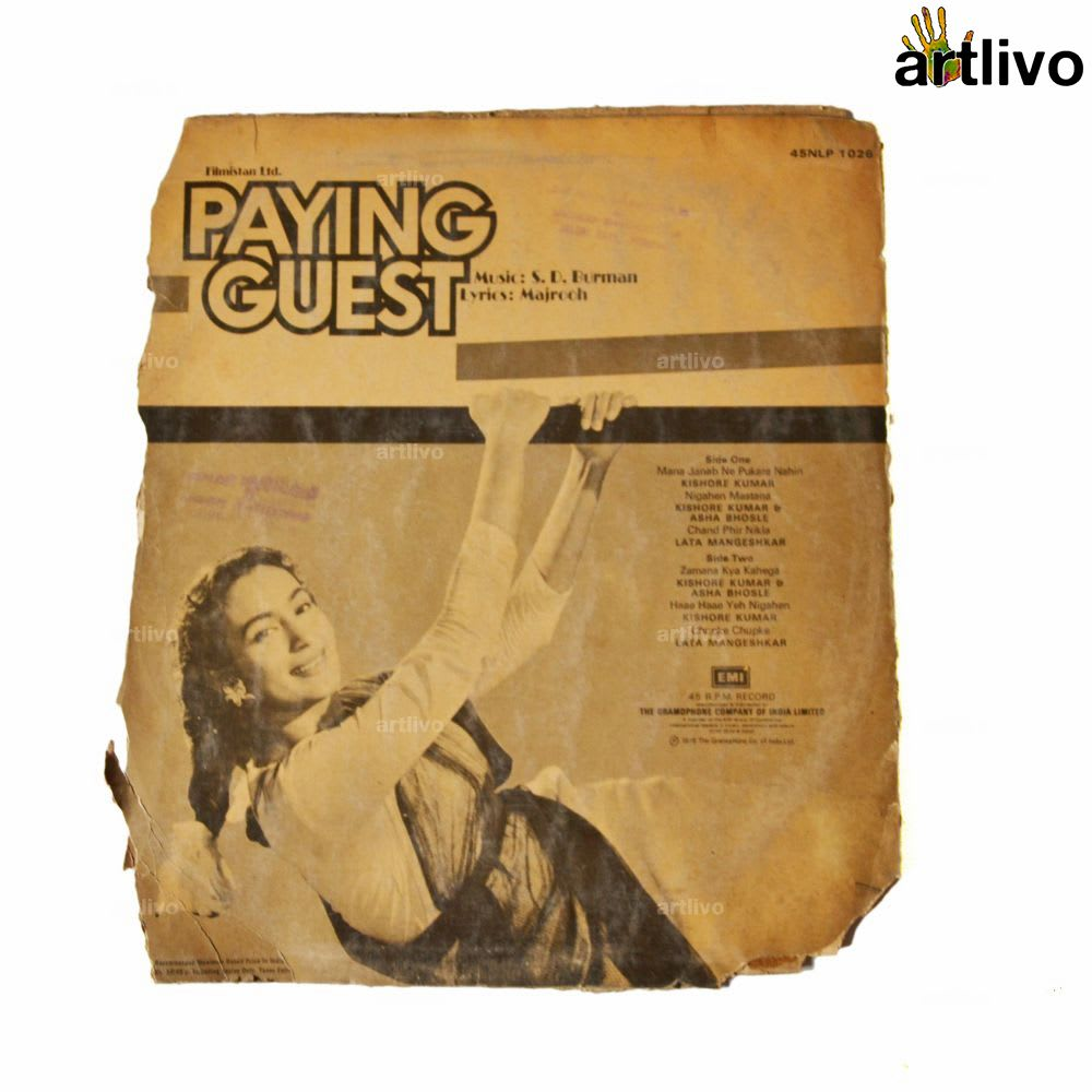 VINTAGE Gramophone Record - PAYING GUEST (With Cover)