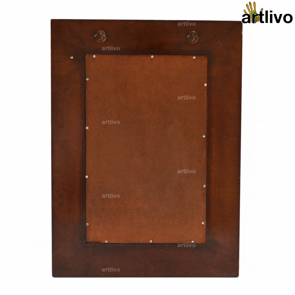 Premium Handcrafted Yellow Tile Mirror Frame