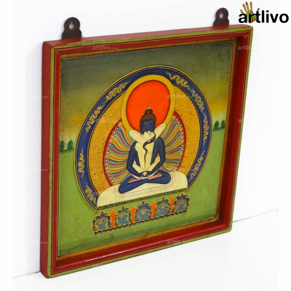 Erotic Buddha Painting on Wood