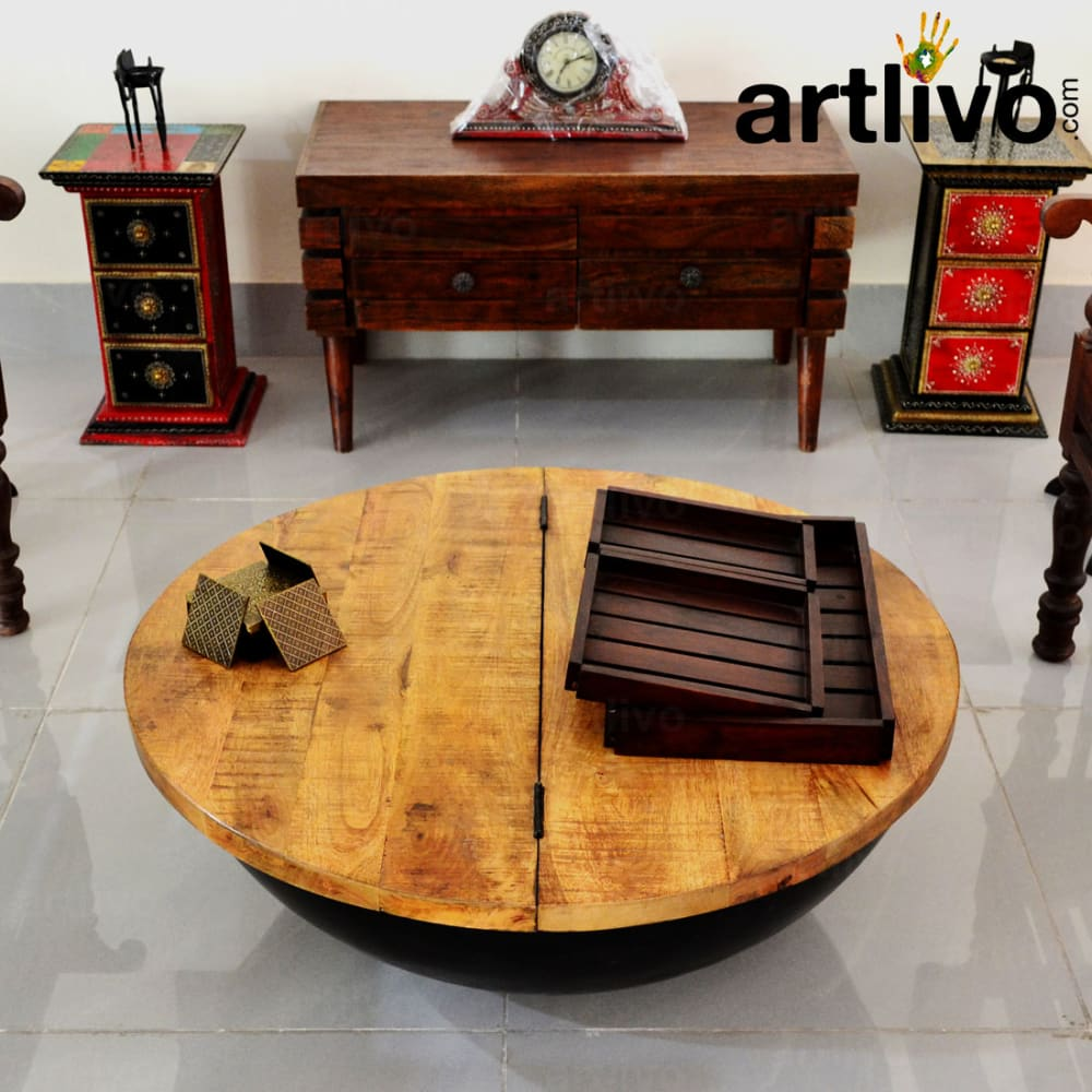 Industrial Storage Coffee Table - Large