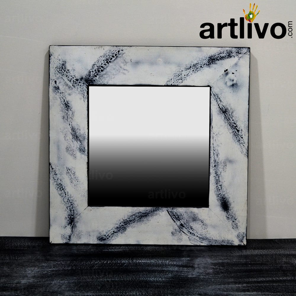 Marble Wall Mirror Square
