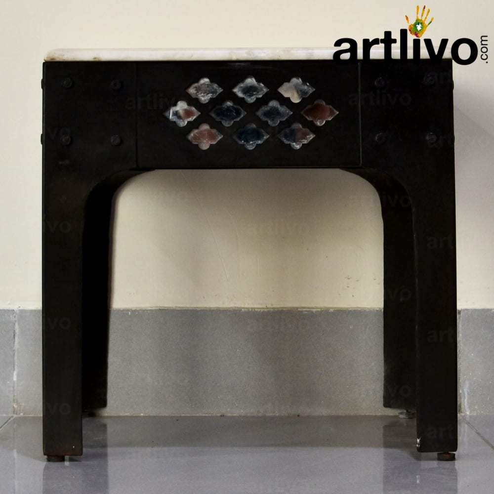 Stool with Marble Top - Large