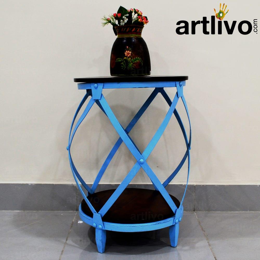 Popart Blue Side Table