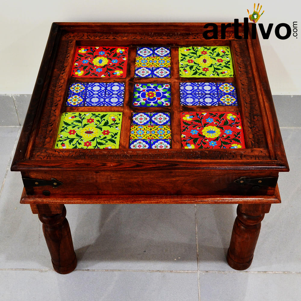 Wooden Tile Coffee Table